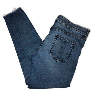 Rag & Bone high rise raw hem ankle skinny jeans 🌸
